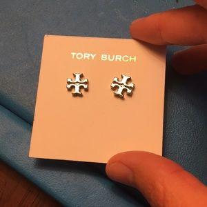 Tory Burch logo earrings